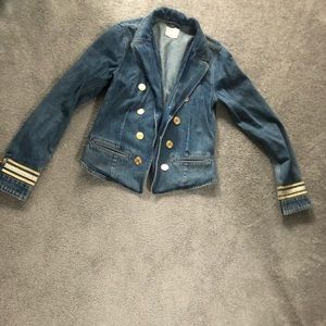 Jean jacket with Gold detail